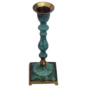 Astoria Grand | Small Patina Brass Candlestick New